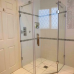 Walk in shower luxury bathroom